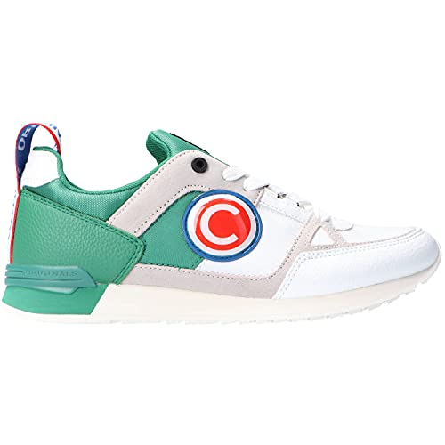 Colmar Supreme Macro O by.O, Scarpa, Uomo, Sneaker, Lacci (42 EU, White/Green)