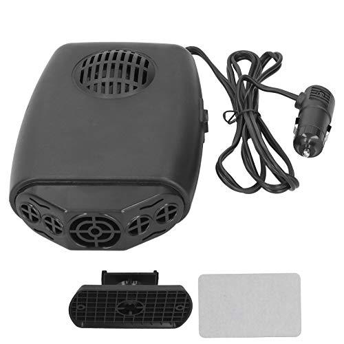 Calentador de coche Aramox, Calentador de coche Calentador de calefacción Eliminación de escarcha Desempañador de bajo ruido 12V 120W W/Interruptor térmico Negro