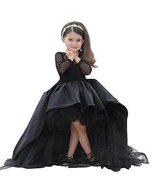Helen Hi-lo Flower Girls Dresses for Weddings Pageant Toddler Gowns 110 Black 6