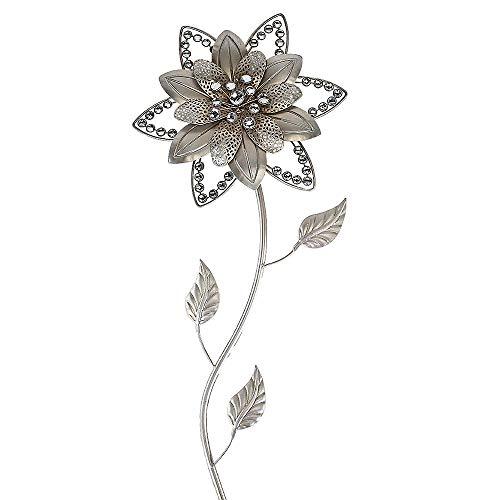 Formano Wandblume 70cm silber