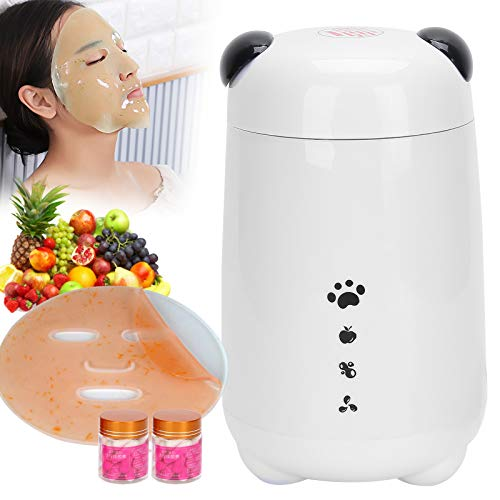 120 ml Máquina de mascarilla facial multifuncional, Máquina para hacer mascarillas faciales de frutas y verduras con accesorios, Mascarilla de belleza para el cuidado personal(blanco)