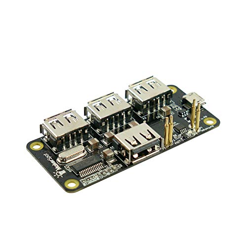 MakerSpot 4-Port Stackable USB Hub HAT for Raspberry Pi Zero V1.3 (with Camera Connector) and Pi Zero W (with Bluetooth & WiFi)