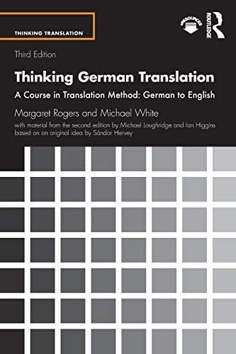 Thinking German Translation Thinking Translation product image