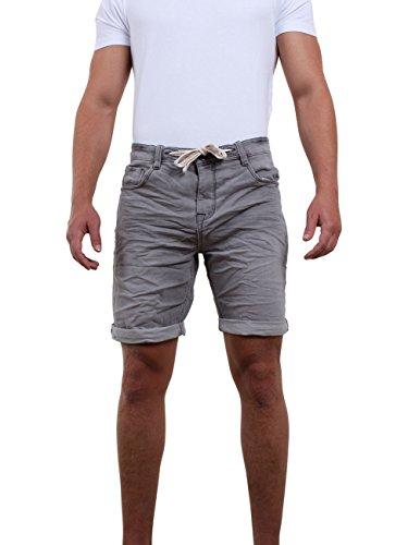 riverso Herren Jeans Shorts FRED Kurze Hose Sommer Bermuda Stretch Sweathose Baumwolle Grau W 36, Größe:W 36, Farbe:Grey Denim (23000)