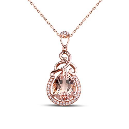 QiuYueShangMao Colgante de Collar Anillo de Boda de joyería Tallada de Temperamento de Collar con Colgante de Cristal de Gota de Agua para Mujer Día de San Valentín, cumpleaños