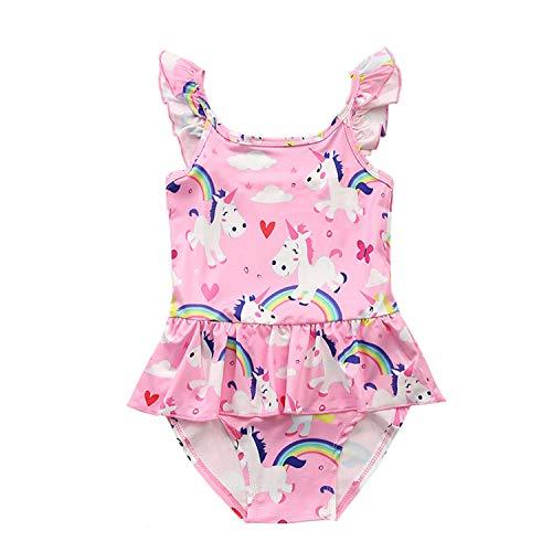 SEDEX Badeanzug Mädchen Einteiler Teenager Tochter Pink Einhorn Badeanzug Kinder Anzüge Schwimmanzug Sport Bademode