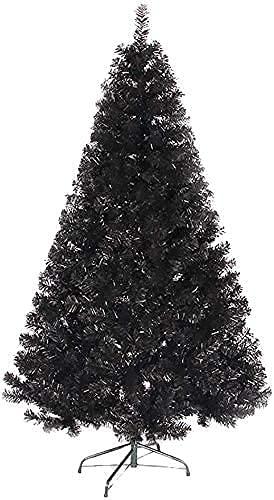 Albero di Natale Alberi artificiali Decorazione Albero di Natale Nero con supporto in metallo Classi Albero di pino artificiale per decorazioni per feste di carnevale (Colore: Nero; Dimensio