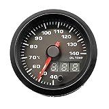 VOSAREA Strumento Auto Auto modificata 12V 2 Pollici 7 Colori retroilluminazione Regolabile 40140 ℃ indicatore Temperatura Olio (Nero)
