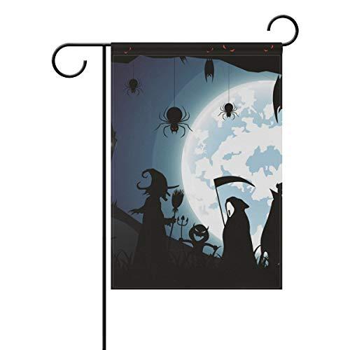 domook Drapeau de Jardin décoratif pour la Maison, la Cour, l'automne ou l'Halloween 30,5 x 45,7 cm, Multicolore, 12x18(in)