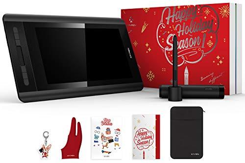 XP-PEN Artist 12 Tavoletta Grafica con Schermo HD 11,6 Pollici Monitor con Pennino Passivo 8192 Livelli di Pressione + Porta Penne Multifunzione + Guanto per Tablet (Regalo di Natale Ideale)