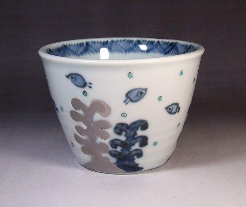 有田焼・伊万里焼|陶器ロックグラス・酒器|高級贈答品|記念品|ギフト|プラチ彩千鳥・藤井錦彩