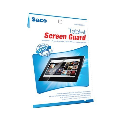 Saco Tablet Screen Guard Scratch Protector for iBall Slide Brace X1 Tablet 10.1 inch