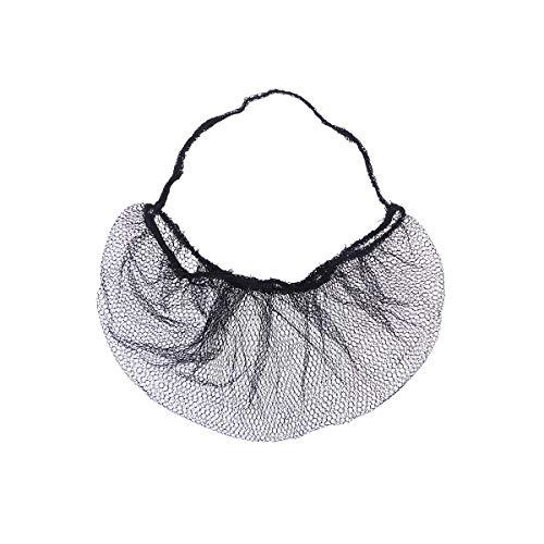 ULTNICE 100pcs Disposable Beard Cover Honeycomb Beard Net Protector for Serving Facilities (Black)