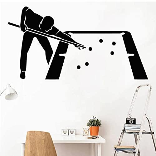 Snooker Club vinilo pared calcomanía billar ocio pegatina niños habitación decoración Mural impermeable removablr pegatina mesa escritorio 42x79cm
