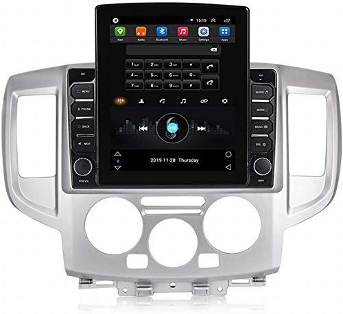 GPS Navigation Head Unit Sat Nav AUD Audio Player MP5 FM Radio Receptor Coche Stereo 9.7 Inch Pantalla Táctil Android 9.0 Compatible para Nissan NV200-2018,4 Core 4G+WiFi 1+16GB