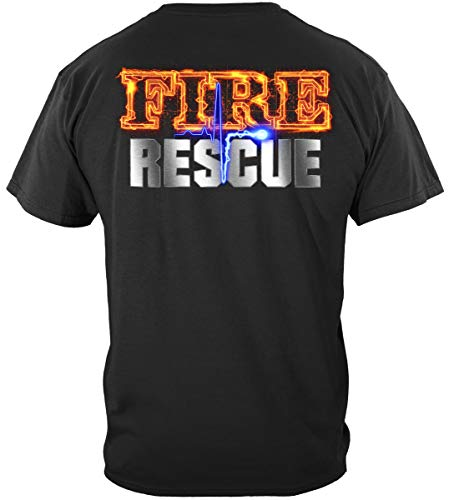Firefighter Flag hat | Fire Rescue Full Front Maltese Shirt ADD121-FF2061M