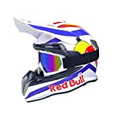 ABDOMINAL WHEEL Cascos de Motocross,Casco Moto Cross Profesional,MúLtiples Orificios VentilacióN Bloqueo RáPido Forro ExtraíBle ECE homologado Red Bull B,M=(57~58CM)