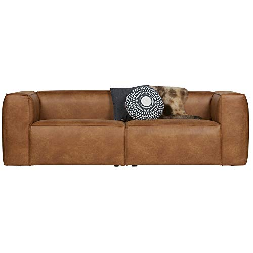 De Eekhoorn 3,5 Sitzer Sofa Bean Cognac Lounge Couch Leder Loungesofa Couchgarnitur