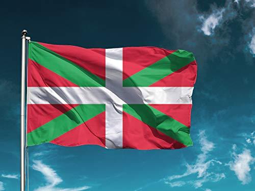 Wayshop   Bandera Euskadi   Bandera País Vaco   Medidas 150cm x 85 cm   Fácil colocación   Decoración Exteriores (1 Unidad)