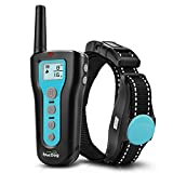Dog Training Collar Dog Shock Collar 1000ft Remote Rechargeable & Waterproof with Beep Vibration...