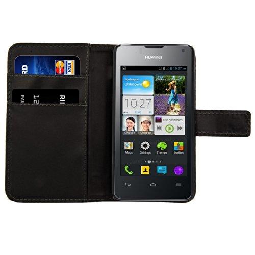 kwmobile Custodia Compatibile con Huawei Ascend Y300 Custodia Portafoglio - Cover a Libro in Simil Pelle - Flip Case Custodia con Porta Carte