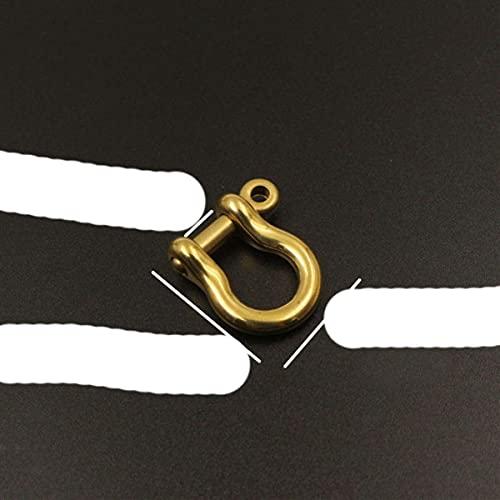 1 pieza Mosquetón de latón macizo D Grapas de arco Grillete Fob Llavero Llavero Gancho Tornillo Conector de junta Hebilla-7mm