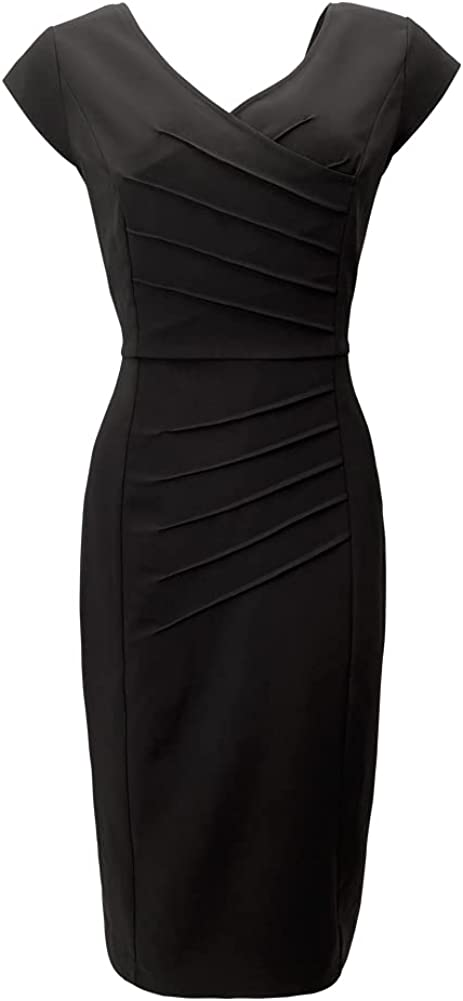 PHOACE Women's Sleeveless Slim Cocktail Dress with Retro Style in 1950s