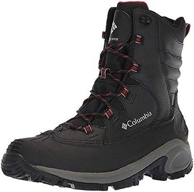 Columbia Men's Bugaboot II Snow Boot, Black/Bright Red, 12