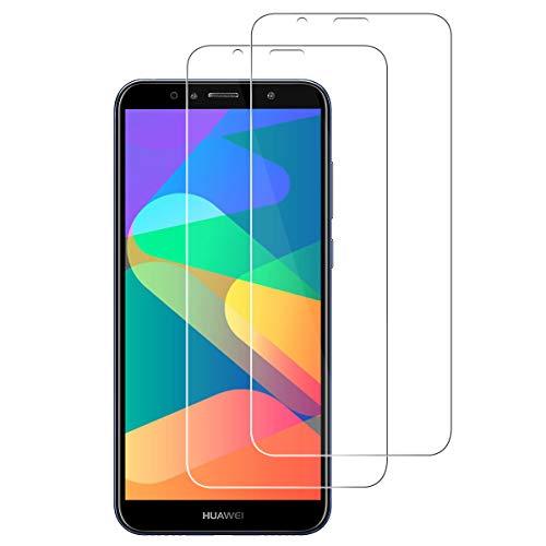 ROOTE Huawei Y6 2018/Honor 7A Verre trempé, [2 Pack] [9H Dureté] [Anti Rayures] [sans Bulles] Protecteur d'écran en Verre trempé pour Huawei Y6 2018/Honor 7A.