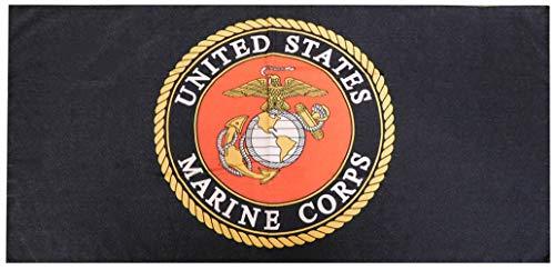 Trade Winds US USMC United States Marine Corps Emblem Black 30'x60' 100% Polyester Beach Towel