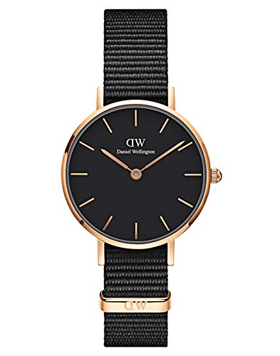 Daniel Wellington Petite Cornwall Watch, Black NATO Band