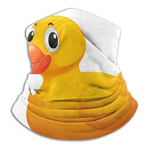Towel&bag Pasamontañas de microfibra de pato amarillo de goma para el cuello, pasamontañas, unisex, suave, resistente al viento, diadema para deportes y senderismo
