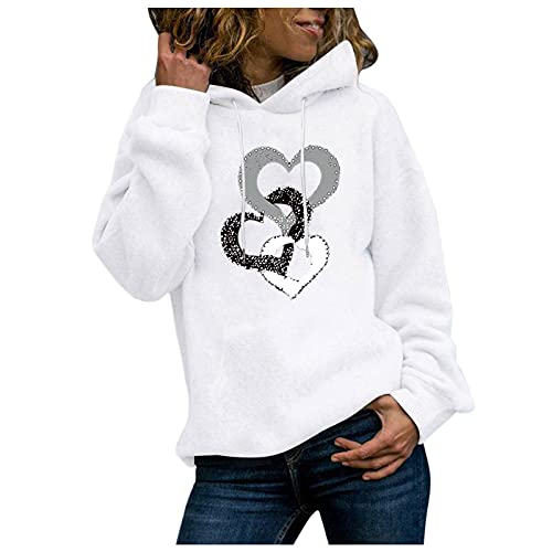 MINYING 2021 Sweat-Shirt Femme Belle Impression de Paysage Retro ImpriméeCol Rond Pull Hoodie Sweat sans Capuche Ado Fille Amitié BlouseTops Loisirs Uni Pullover Haut Automne Hiver