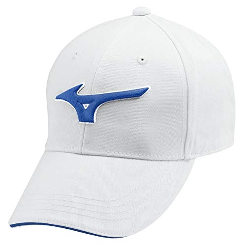 Mizuno Golf 2019 RB Cotton Casquette de Golf Ajustable Hommes Golf Cap White/Blue