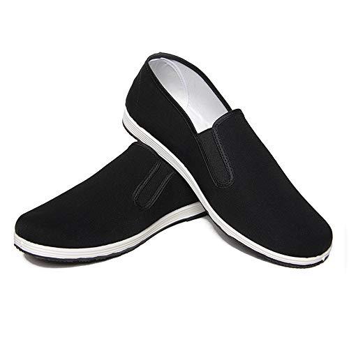Zapatos de Artes Marciales Unisex Zapatos Chinos de Kung Fu Zapatos Antiguos de Tai Chi de Beijing Suela de Goma Negra (45 EU 275 mm)