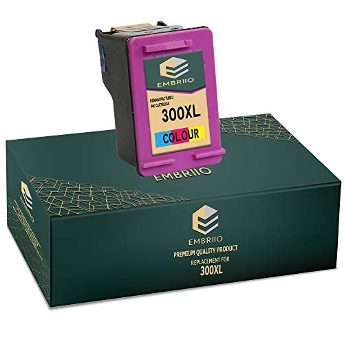 EMBRIIO 300 300XL Color Cartucho de Tinta Reemplazo para HP Deskjet D1660 D1663 D2530 D2545 D2560 D2660 D5560 F2420 F2480 F4210 F4240 F4272 F4280 F4580 F4583 Photosmart C4780 C4680
