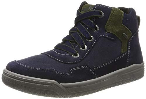 Superfit Jungen EARTH-509058 Hohe Sneaker, Blau (Blau/Grün 80), 30 EU