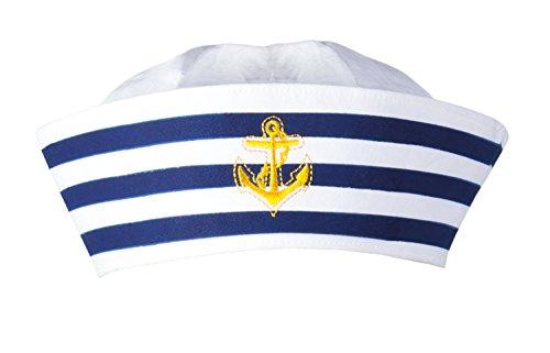 Boland 44355 - Mütze Matrose, Navy Sailor, Seemann, Seefahrer, Marine, für Erwachsene, Accessoire, Kopfbedeckung,  Motto Party, Karneval