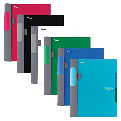 "Five Star Advance Spiral Notebooks, 2 Subject, College Ruled Paper, 100 Sheets, 9-1/2"" x 6"", Assorted Colors, 6 Pack (38642)"