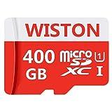 Micro memoria Class 10 SDXC Card 400 GB Micro SD Card C10 Tarjetas de memoria TF Card Transflash con adaptador SD para teléfono o cámara (400 GB)