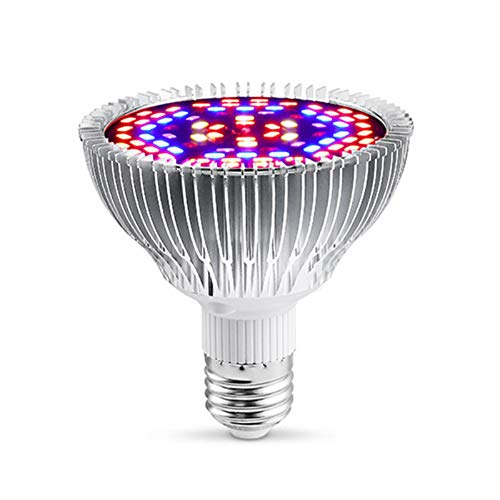 XGzhsa Led Grow Light Bulb, Plant Growth Lamp, LED Plant Lamp Light Bulb Full Spectrum for Indoor Plant Flower Hydroponic Greenhouse Plants Growth (E27, 30W)