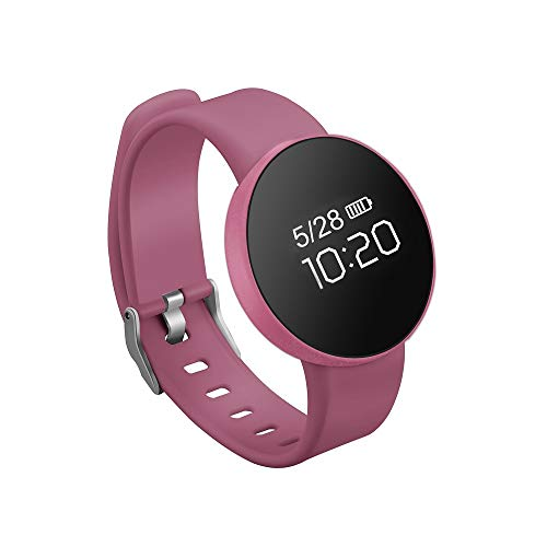 Alvnd multifunctionele armband IP67, waterdichte stappenteller en caloriearmband voor slaapbewaking, roze
