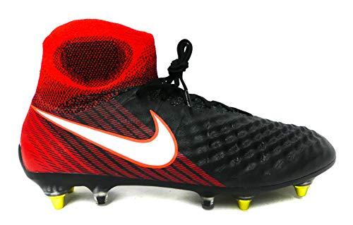 Nike Herren Magista Obra II AC DF SG-PRO Fußballschuhe, Schwarz (Schwarz/Rot Schwarz/Rot), 42.5 EU