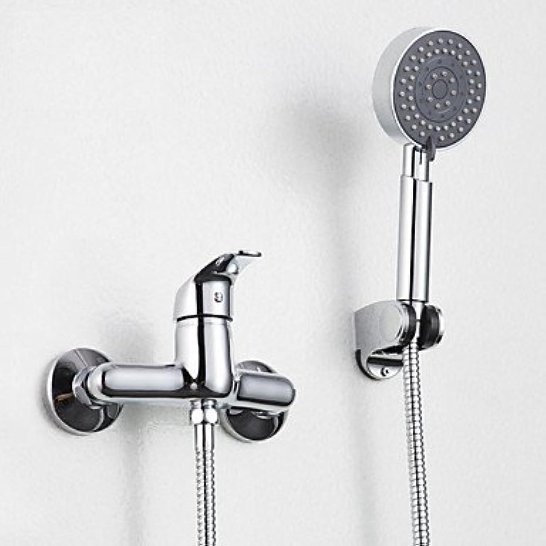 YFF@ILU Zeitgenssische nur Dusche weit verbreitete withCeramic Ventil einzigen Griff zwei Bohrungen forChrome, Dusche Wasserhahn