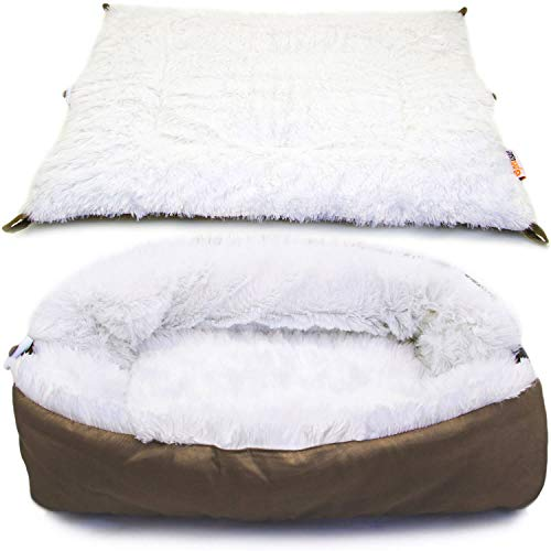 Pettsie Cat Bed & Mat 2in1 for Cats or Small...