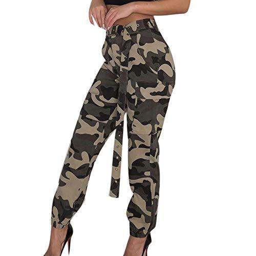 Femmes Pantalon, Manadlian Pants Automne et Hiver Camo Cargo Casual Militaire ArméE Combat Camouflage Pantalons Taille S-3XL Black Friday