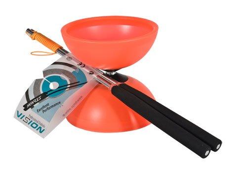 Flames 'N Games Henrys J0405003–Yo-Yo Diabolo Vision Set, Including Hand–Red
