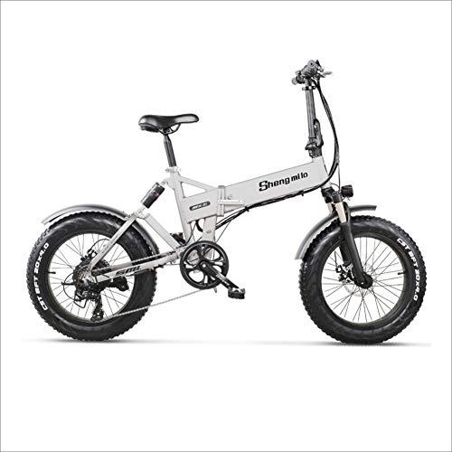 Shengmilo Bicicleta Eléctrica MX21 para Adultos Fat Bike con Shimano 7 Velocidades,Motor...