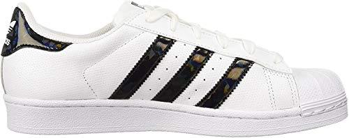 adidas Originals Damen Superstar Turnschuh, Weiß/Schwarz, 40 EU