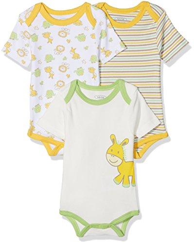 Schnizler kurzarm, 3er Pack Dschungel, Oeko-Tex Standard 100, Body Bebé niños, Multicolor...